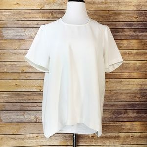 Madewell Maison Button Back Blouse Cream White Top
